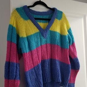 Sweaters - Vintage Rainbow Sweater Size Large
